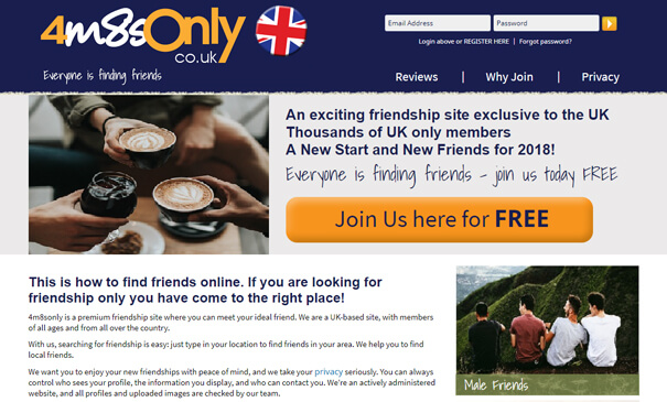 4m8sonly.co.uk - New Landing Page developed on top of one of our themes