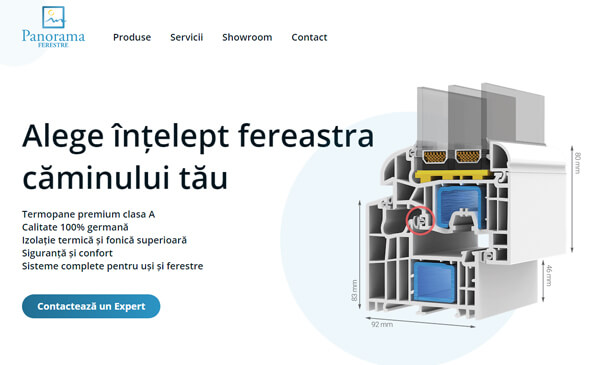 Panoramaferestre.ro - Theme designed & developed for a window professionals team