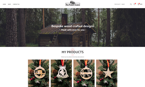 theforestcabin.co.uk - Theme customized for a WordPress website